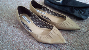 American Eagle Shoes and Guess clutch
