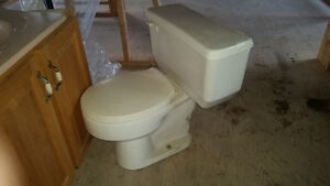 Cream colour toliet