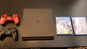 PS4 Slim with Horizon Zero Dawn