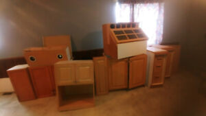 Used Kitchen Cabinets For Basement Apartment - $120