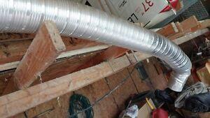 Tuyaux neufs aluminium flexible et  rigide en plastique