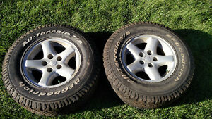 Jeep TJ, XJ, Cherokee Aluminum 5 spoke rims
