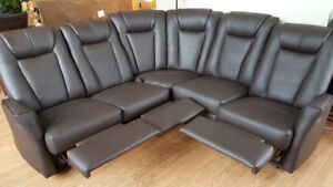 Divan sectionel elran - Elran Sectional couch / 5 places brun