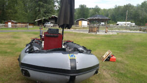 Zodiac Mark III 15 ft with 25HP mercury and trailer and more!