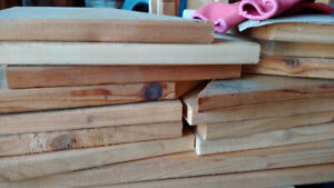 Cedar offcuts and other wood