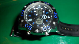 Large Mens Diver Style Wrist Watch $40.