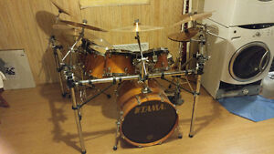 TAMA STARCLASSIC COMPLET AVEC CYMBALES PAISTE 2002 + CAGE
