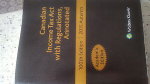 Canadian income tax act with Regulations Annotated.