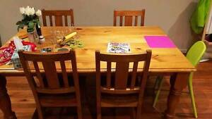 solid wood dinning table with 6 chairs Gungahlin Gungahlin Area Preview