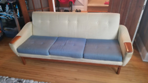 1960's Mid Century Modern sofa with Teak frame and Acsents