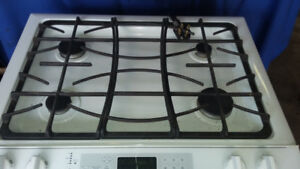 Range  white  gas  burners and  220 electric for the oven