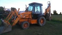 580 case backhoe and operator for hire