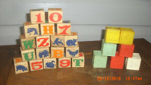 1950's Wooden and Plastic Building Blocks