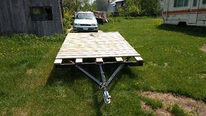 8x10 flat deck trailer