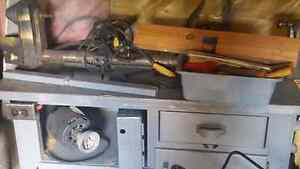 """12"""" Wood Lathe, Router, Router Table, Dovetail Jig & Accessories"""