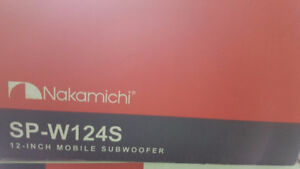 Nakamichi SP-W124S 12 Inch Mobile Subwoofer Pair
