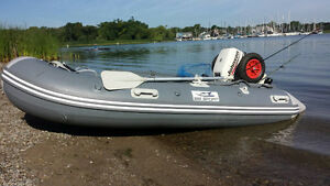 inflatable boat with wheels