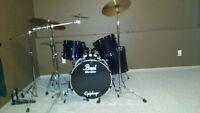 11 pce set Black Pearl drums