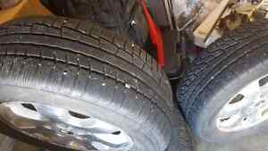 4 sets of winter tire with  rims 225 60 R16