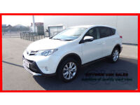 2013 TOYOTA RAV4 2.2D-4D ( 150bhp ) ( AWD ) ICON WHITE DIESEL 4X4 CAR