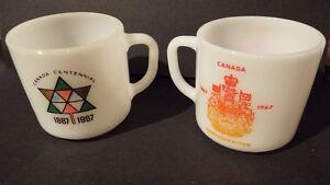 2 CANADIAN CENTENNIAL MUGS/SALT&PEPPER