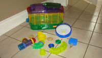 Critter Trail Hamster Cage with Extras.