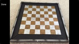 Marvel chess board with 22 pieces
