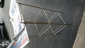Glass and metal stand