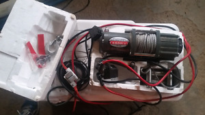 Atv winch. 4000lb. Like new. Everything there with remote. $120