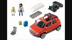 Playmobil red SUV car