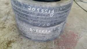 Pair of 2 Continental ContiProContact 205/55R16 tires (50% tread