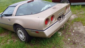decent 86 c4 vette....87 iroc crate motor cheap projects
