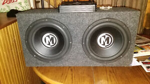 "Two 12"" Memphis Subwoofers in Box"