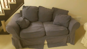 Comfy blue couch $50 OBO