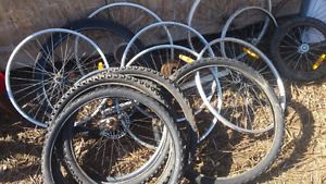 26in bicycle  wheels and tires.