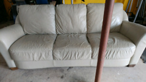 Natuzzi older leather couch sofa