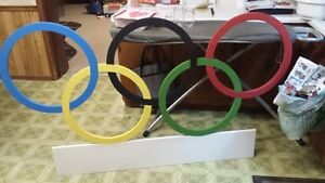 MDF painted olympic rings