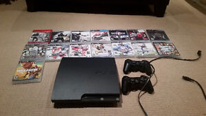 Playstation 3 bundle. Comes with 2 remotes and 15 games!