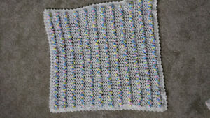 like NEW hand knit baby blanket