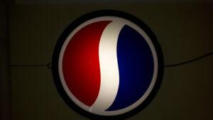 Vintage enseigne neon Pepsi fonctionne A1