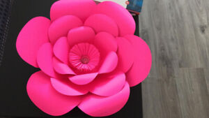 Paper flowers for decoration
