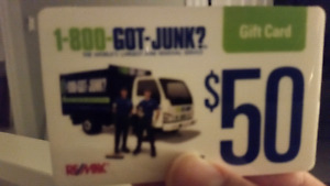 "Got junk"" gift cards $100 for $55"