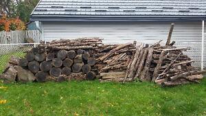 8 cords of oak fire wood.