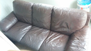 Leather Couch Kitchener / Waterloo Kitchener Area image 1