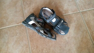 Leather boys sandals size 11 little kid - new