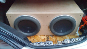 DUAL JL 12W7 SUBWOOFERS IN SEALED ENCLOSURE
