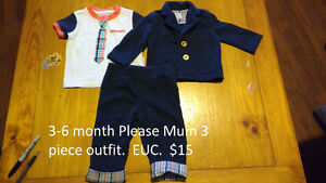3-6 Month Please Mum outfit