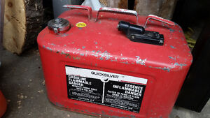 Antique gas  cans for motor boat