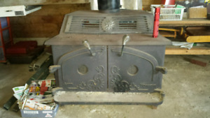 Selling wood stove. No safety tags asking $200
