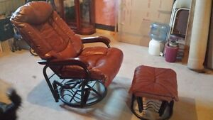 ultra soft leather rocker recliner Peterborough Peterborough Area image 1